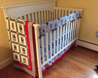 Polo Bears Layette - With Large crib quilt , bed skirt and Crib Rail Guard