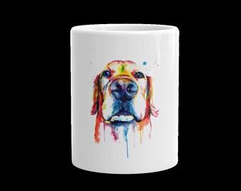 Colorful Golden Retriever Coffee Mug