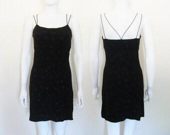 90s Black Shimmer Dress