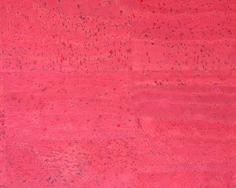 Natural Cork Fabric - Red