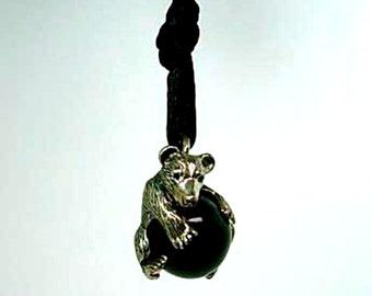Bear Pawjama Pendant - Handmade
