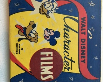Vintage Walt Disney Character Films, 8 MM Film from Walt Disney Productions, #2153 Mickey's Trailer, Timber