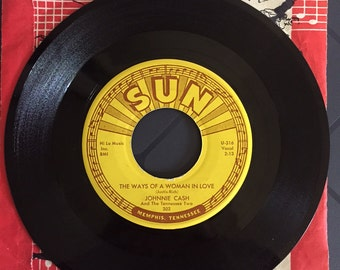 "Johnny Cash 45 Rare Misspelling, ""Johnnie"" Cash And Tennessee Two. Sun Records 302"