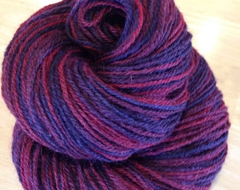 Red Wine Hand-dyed Alpaca/Wool Yarn Sport Weight 300 yds