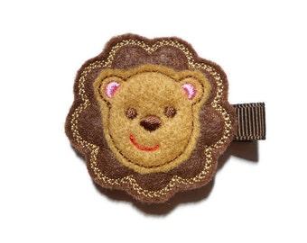 Felt Hair Clip - Lion Animal Hair Clip - Feltie