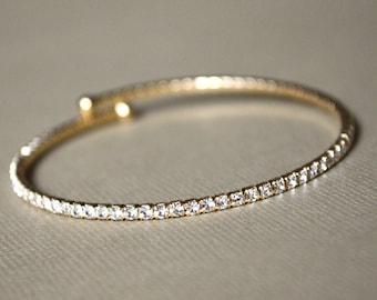 Gold Crystal Rhinestone Bracelet