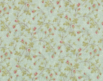 Moda Paris Flea Market Sea Glass Small Floral 3 Sister's Gray Shabby Fabric BTY 1 Yd
