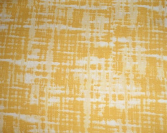 RIVERWOODS Troy College Yellow Blender Tonal Solid Plaid Fabric BTY