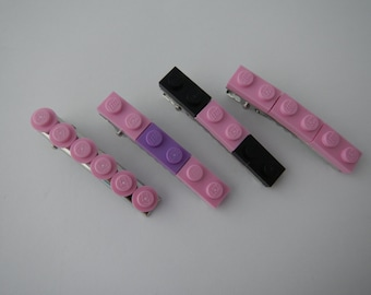 Pink LEGO (R) hair clips, choose one