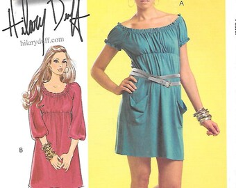 McCall's Hilary Duff Pattern 5595 TUNIC or DRESS Misses Sizes 4 6 8 10 12
