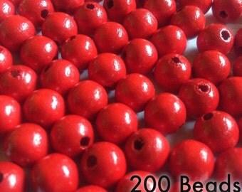 Navy Blue Wood Beads 10mm