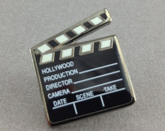Black Directors Movie Board Lapel Pin Tie Tack