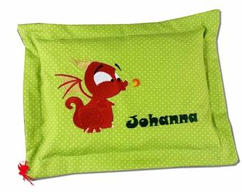 Dragon Pillow Mini Cuddly Cushion with name Mini Cuddly Pillow Little Dragon