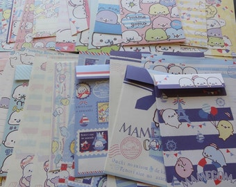 San-X MAMEGOMA Letter Sets Envelopes writing paper stationery cute kawaii seals japan stationary not personalized like papyrus gift for her