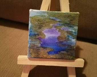 Miniature watercolor painting