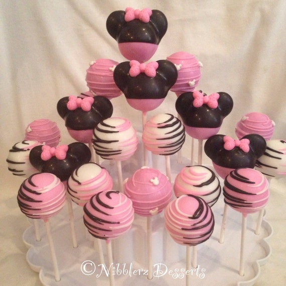 minnie mouse cake pops 24 minnie mouse inspired cake pop assortment minnie or 5943
