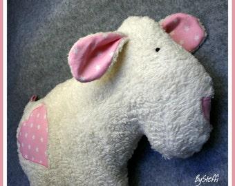 Stuffed animal sheep * Holly * organic plush