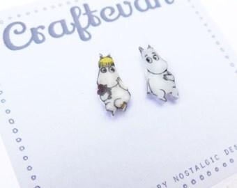 Moomin earrings.
