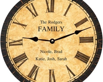 Household Clock- Personalized Household Clock