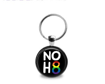 Gay Pride 4 Pendant or Keychain
