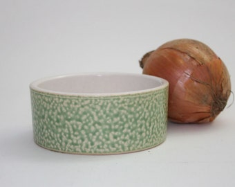 Sage Green Small Mottled Spongeware Bowl