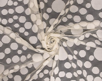 Miss Sixty Lace Fabric Tan by the yard - Miss Sixty Pattern  - 1 Yard style 277