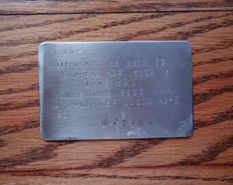 Metal Keepsake Card