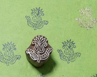 Floral Motif 099, wood block stamp