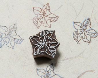 Floral Pattern 115, wood block stamp