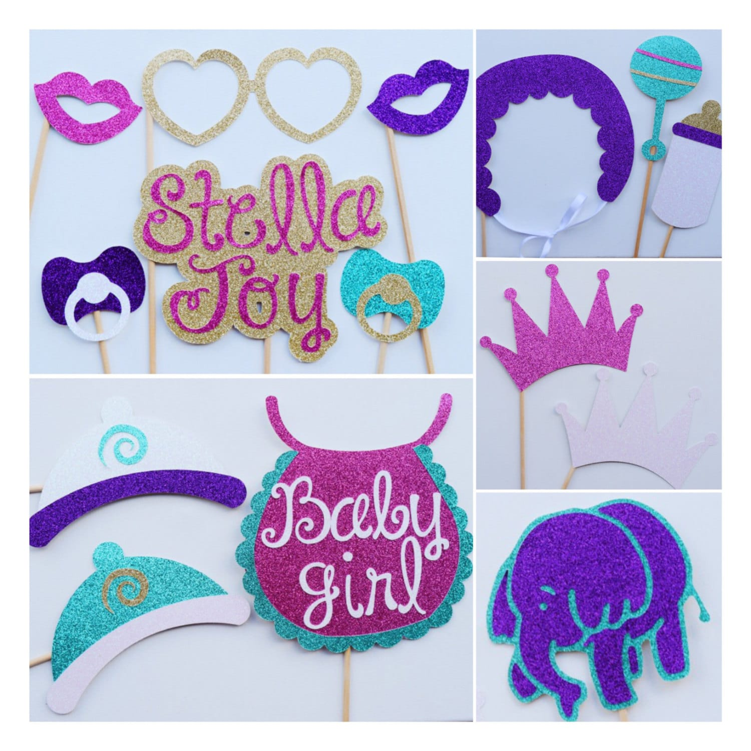 baby shower photo booth props elephant baby shower decor