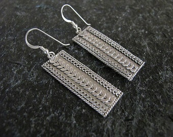 Jewelry,  Earrings, Silver earrings , Filigree earrings ,Israel jewelry,Yemenite earrings,Ethnic earrings