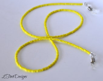Glasses Chain, Yellow Eyeglass Chain, Women's Glasses Chain, Beaded Glasses Chain, Readers Chain, Sunglasses Chain, Glasses Leash, Eye Wear