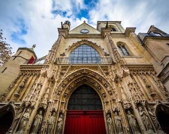 The Church of Saint-Merri, in Paris, France. | Photo Print, Stretched Canvas, or Metal Print.