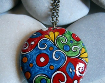 Necklace/Pendant handpainted with chain