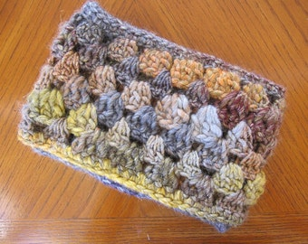 WOOL Cowl in Beautiful Italian Wool Blend Yarn, Bulky Crochet Cowl, Gift for Her, READY to SHIP, Christmas Gift