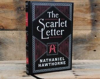 Book Safe - The Scarlet Letter - Leather Bound Hollow Book Safe