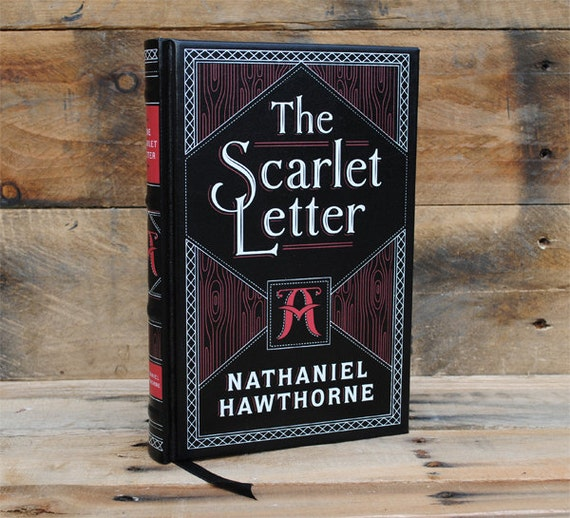 Scarlet Letter Cover: Book Safe The Scarlet Letter Leather Bound Hollow Book