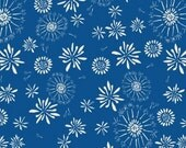 SALE 1/2 OFF Organic Cotton -Rain Walk- Blue- Cloud 9 Fabrics - 1 yd
