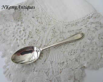 Old silver spoon real silver hallmarked