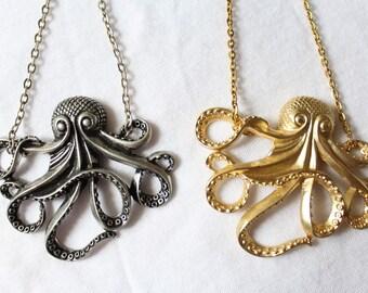 "Sautoir ""Octopus"" - silver or gold color - Octopus"