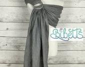 Pure Linen Baby Ring Sling Carrier- Light Gray