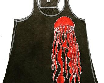 Jellyfish Batik Tank