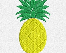 Pineapple Embroidery Design Instant Download