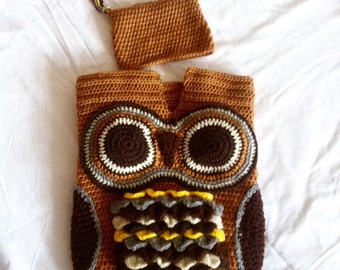 Crochet Owl Cocoon-Crochet Cuddle Sac