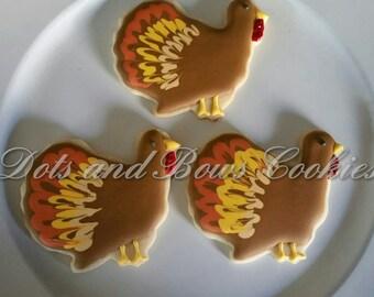 Autumn Turkey Cookies