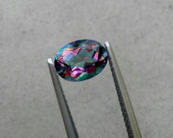 Rainbow Topaz oval cut. .51 ct