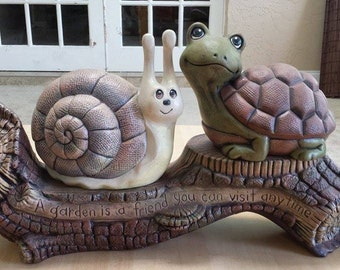 3 pc. snail & turtle set