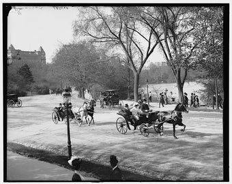 The Driveway, Central Park, New York City-  Old Photo Print
