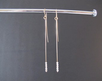 Dramatic Swarovski Crystal Long Earrings/Sale! All Sales Final