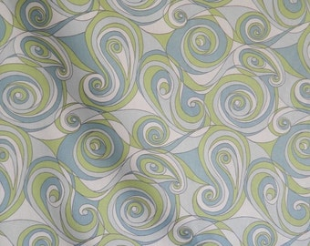 Kaufman Fabrics Upholstery Drapery Home Soil Release Blue Green Swirl By The Yard